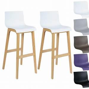 Tabouret De Bar Plastique : tabouret de bar lot de 2 en plastique chaise en bois avec ~ Teatrodelosmanantiales.com Idées de Décoration