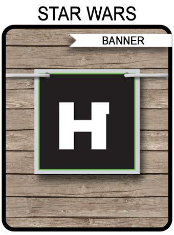 star wars banner template happy birthday banner