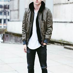 Jean Jacket With Hoodie Outfit Men
