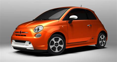 Fiat 500 Orange by 2013 Electric Orange Fiat 500e Bianco Perla Insert