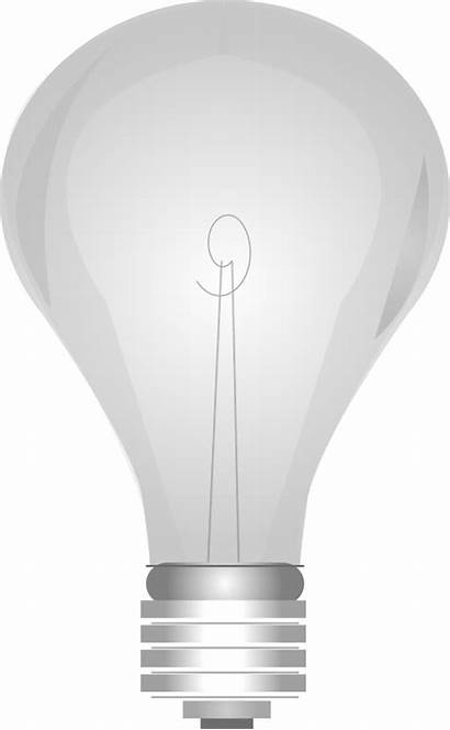 Lightbulb Bulb Clip Grayscale Lights Openclipart Onoff