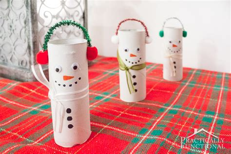 christmas crafts with toilet rolls diy toilet paper roll snowmen