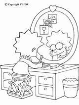 Simpsons sketch template