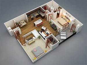 2 bedroom apartment house plans for Plan of a two bedroom house
