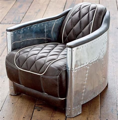aarnio industrial loft aluminum espresso black leather arm