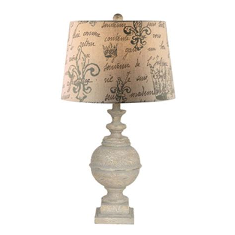 table l finials crestview 174 distressed finial table l 233678 lighting