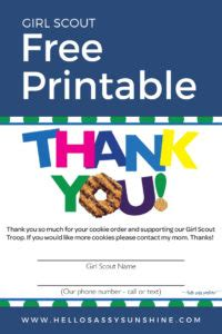 girl scout cookies   printable girl scout