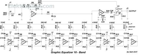 Band Graphic Equalizer Schematic Circuit