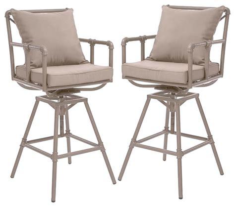 tallahassee outdoor adjustable height swivel bar stools