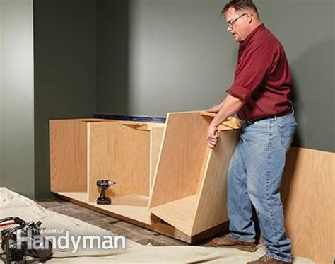 diy build your own kitchen cabinets frame cabinet building tips the family handyman 9594