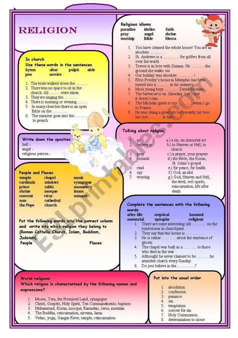 Religion Esl Worksheet By Ciortea