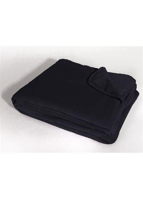 jete de canape noir jeté de canapé uni en polyester noir dragée