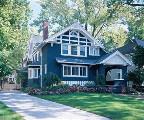 bold blue paint color ideas for craftsman houses this house