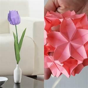 Origami Fleur Coeur D étoile : origami fleur l 39 art japonais se met au service de la diy ~ Melissatoandfro.com Idées de Décoration