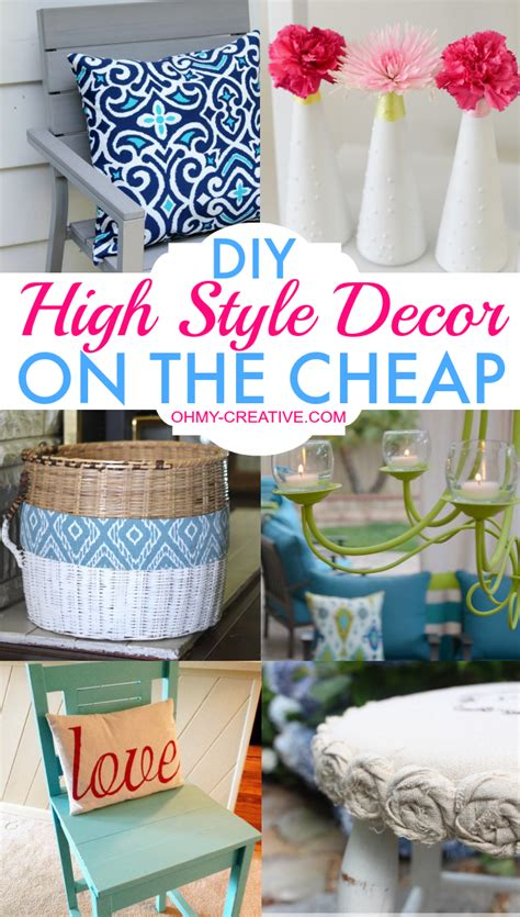 diy high style decor   cheap   creative