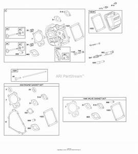 Briggs And Stratton 20m307-0001-f1 Parts Diagram For Cylinder Head  Gasket Set