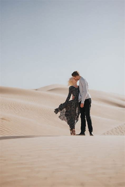 ethereal imperial sand dunes engagement  junebug