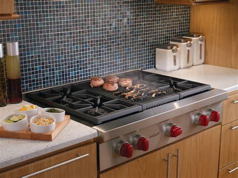 wolf 36 quot sealed burner rangetop srt364c cooktops los