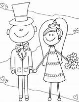 Coloring Pages Bride Groom Drawing Reception Activity Getdrawings Fun Alley Doodle sketch template