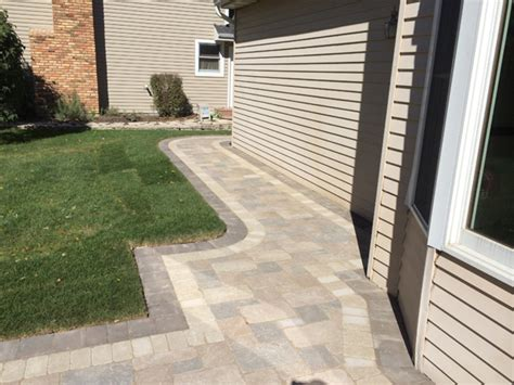 brick  natural stone paver walkways landscape design