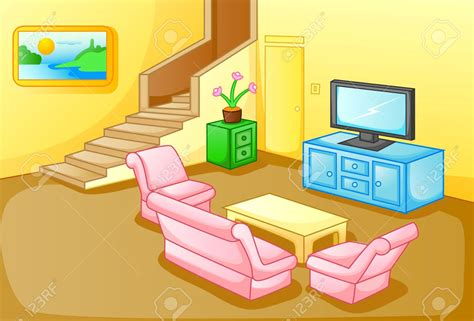 Living Room Clipart by Living Room Clipart House Interior Pencil And In Color
