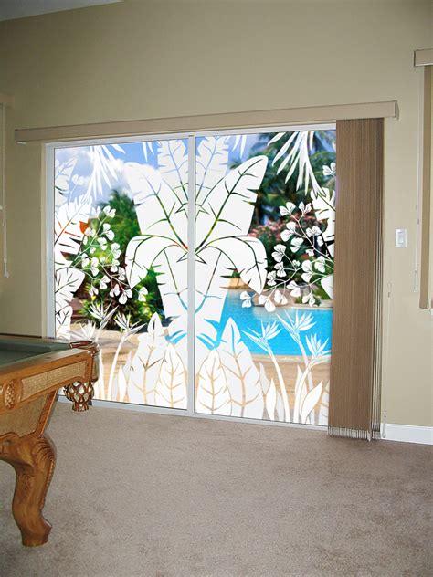 sliding glass doors   decorated