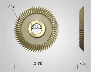 Key Cutter Blade For Key Cutting Machines Parts Key