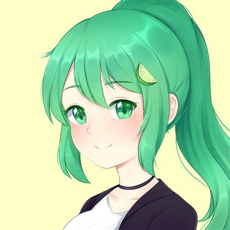 Green Anime Girl Pfp
