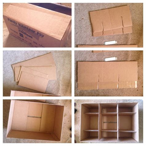 DIY Cardboard Storage Boxes for Shelves