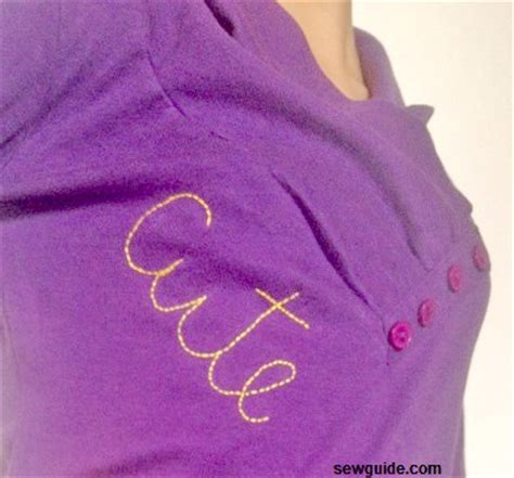 ways  embroider letters   clothes sew guide