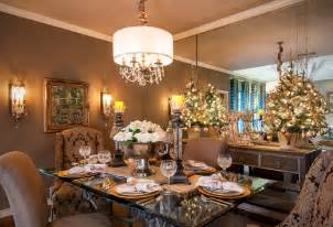 inspired deco mesh christmas tree mode dallas traditional dining room image ideas with brown