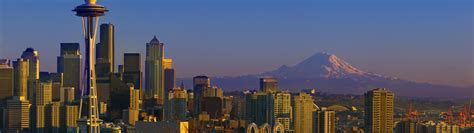 Photo Collection Wallpaper 3840X1080 Seattle Snow