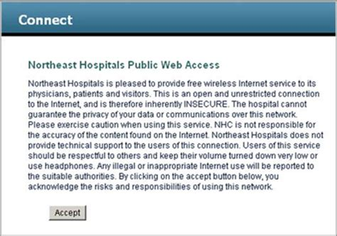 page disclaimer hospital patient guest wireless network beverly hospital