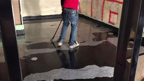 Silver Epoxy Glitter Floor   YouTube