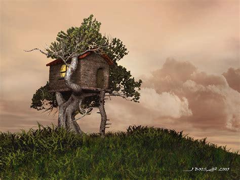 tree house   pix wallpaper fantasy art