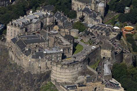 Edinburgh Castle Aerial View
