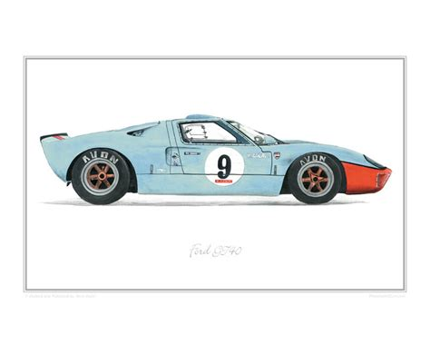 Ford GT40 Car Art Print