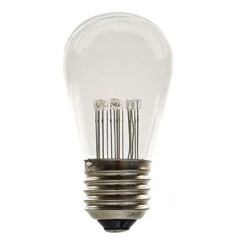 led s14 medium base light bulb white 9 led