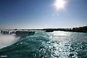 Closeup Of Horseshoe Falls At Niagara Falls High-Res Stock ...