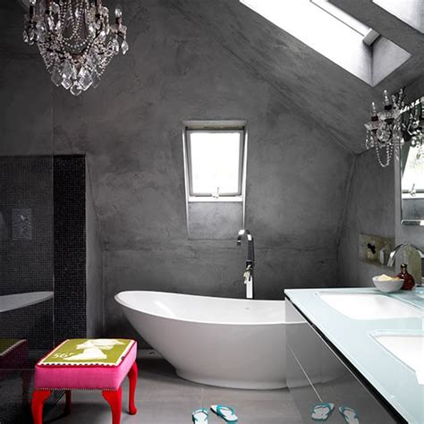 Modern Bathroom Finishes by Modern Bathroom With Concrete Finish Walls Decorating