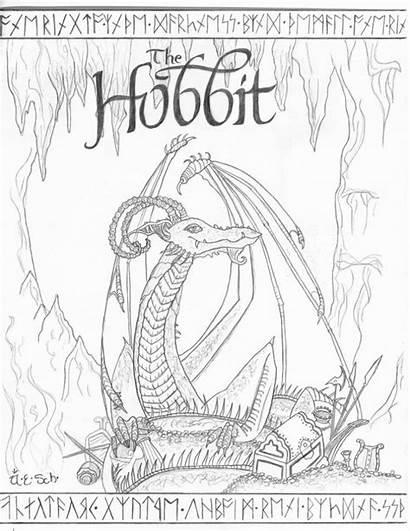 Coloring Hobbit Pages Sketch Printable Deviantart Smaug