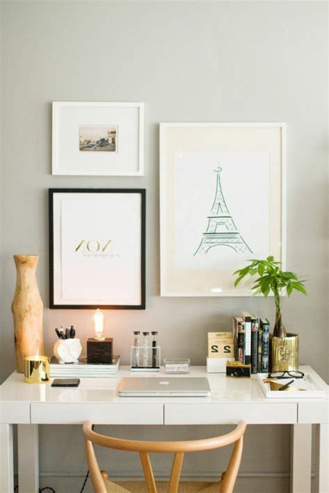 bureau et blanc comment décorer un bureau laqué blanc 61 photos