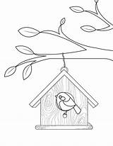 Coloring Birdhouse Pages Bird Printable Birds Colouring Printables Templates Museprintables Patterns Applique Houses Pdf Birdhouses Getcolorings Designs Getdrawings Popular sketch template