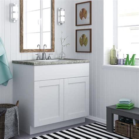 shop altra   white shaker style bath vanity cabinet