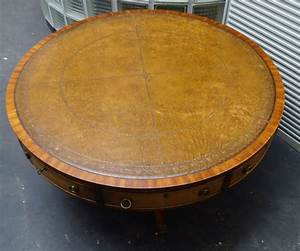 large round wooden coffee table with four drawers mid With round wooden coffee table with drawers