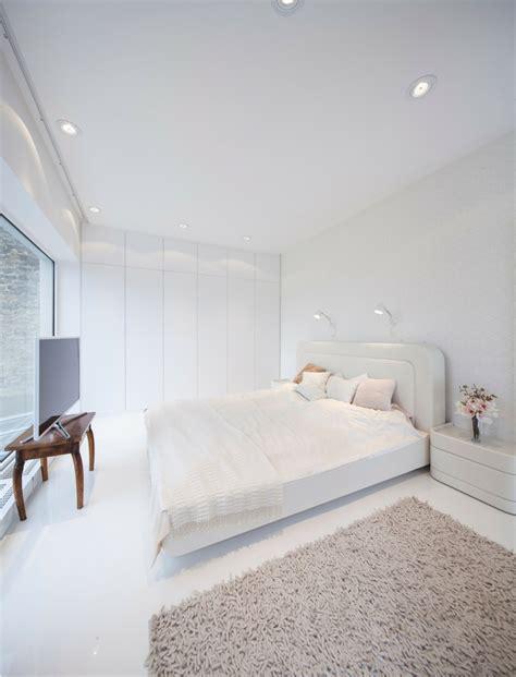 chambre en blanc loft au design contemporain un brin futuriste vivons maison