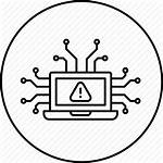 Attack Cyber Icon Network Transparent Security Warning