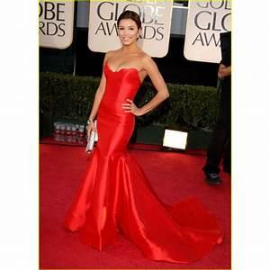 Eva Longoria Elegant Strapless Formal Dress at 2009 Golden ...
