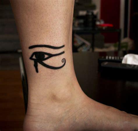 nice black horus eye tattoo  ankle