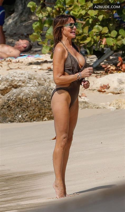 Lizzie Cundy Sexy On The Beach While On Vacation In